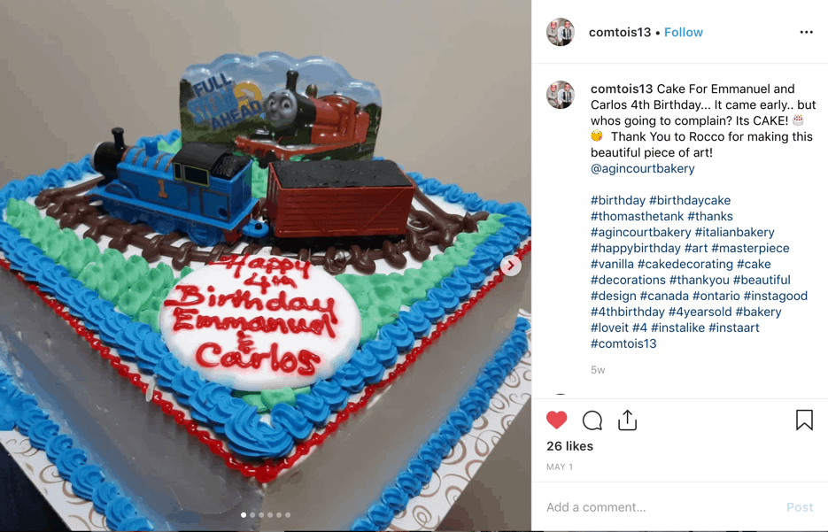 Admirable Thomas The Train Themed Birthday Cake Agincourt Bakery Funny Birthday Cards Online Fluifree Goldxyz