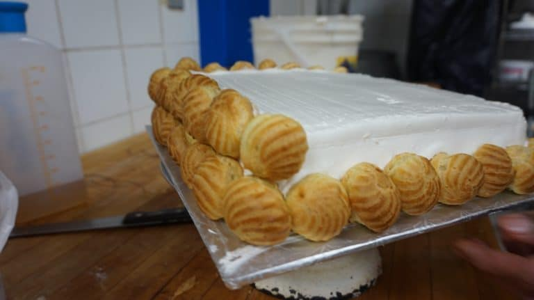 cream puffs on the cake